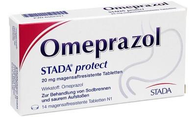 德国进口奥美拉唑  STADA omeprazol 用于十二指肠溃疡胃反流性食管炎